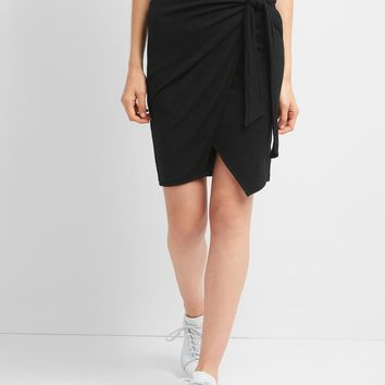 Softspun wrap knot skirt | Gap