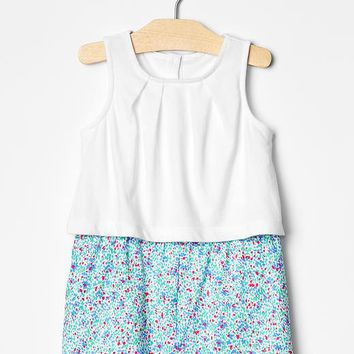 Gap Baby Speckled Mix Fabric Romper