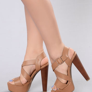 All Night Long Heel - Tan