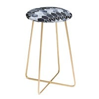 BLUE STAINED GLASS Counter Stool by Elisabeth Fredriksson