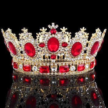 Luxuries Crystal flower Tiara Crown Headdress Prom Queen King crown for Wedding Tiaras and Crowns Hair jewelry Accessories