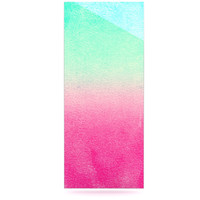 "Monika Strigel ""Sunny Melon"" Aqua Magenta Luxe Rectangle Panel"