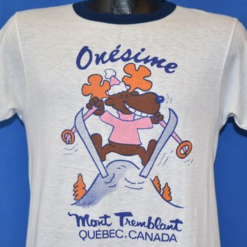 80s Onesime Mont Tremblant Moose t-shirt Small