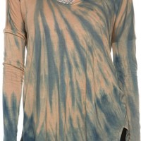 RVCA POP OVER TIE DYE LS TEE
