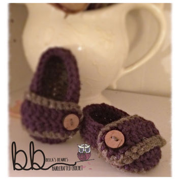 Crochet Baby Shoes - size newborn to 12 months - made to order