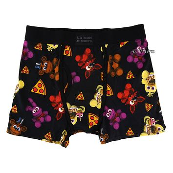 Licensed cool Five Nights at Freddy's Pizza Freddy Fazbear Men's Boxer Briefs Underwear S-L