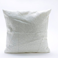 White Vein Throw Pillow