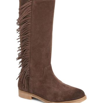 Lucky Brand Women's Brown Suede Fringe Boots