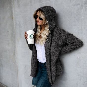 Hooded winter knitted sweater cardigan female Flare sleeve loose striped jumper 2018 casual chic autumn sweater women plus size