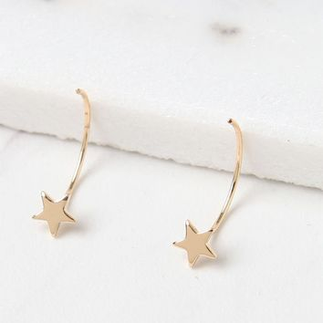 LA Hearts Mini Star Hoop Earrings at PacSun.com - gold | PacSun