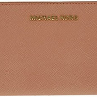 Michael Kors Jet Set Travel Continental Wallet Pale Pink/Gold