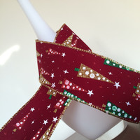 "1 yard 2.5"" christmas ribbon,holiday velvet ribbon,wired ribbon,glitter ribbon,embellishment,card making scrapbooking,hair bows,sewing."