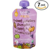 Ella`s Kitchen Organic Baby Food, Sweet Potatoes, Pumpkin, Apples + Blueberries (4+months), 3.5-Ounce Pouches (Pack of 7)