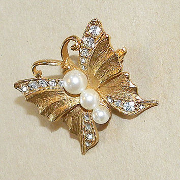 Vintage Scarf Clip Scarf Buckle Scarf Jewelry Butterfly Clip Patented