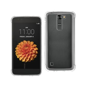 New Clear Bumper Case With Air Cushion Protection In Clear For LG K7 By Reiko