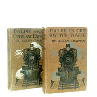 Train Books,Antique Train,Rare Books,Photo Prop,Railroad,Railroad Book,Gift for Dad, Gift for Him,Historical,Ephemera,Gift for Teacher,1910s
