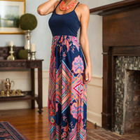 Bright By Your Side Maxi Dress, Navy