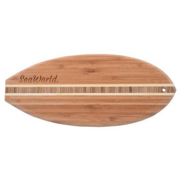 SeaWorld Lil Surfer Bamboo Cutting and Serving Board New