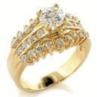 1 Carat CZ Classic Engagement Ring Ring 18kt Gold EP Size 5-10 Lifetime Guarantee Anniversary Engagement W521