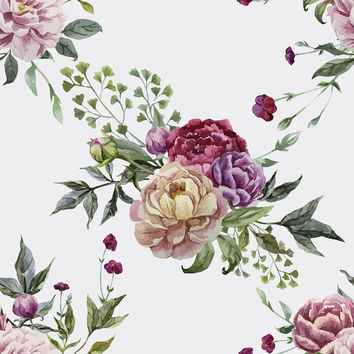 Pretty Peonies Removable Wallpaper