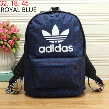 ADIDAS 2018 new unisex wild stylish backpack backpack F-KR-PJ Royal blue
