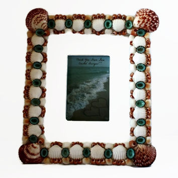 Large Scallop Seashell Picture Frame