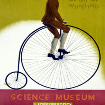London Underground Bicyclisim Ad by Austin Cooper Fine Art Print