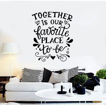 Vinyl Wall Decal Favorite Place Quote Phrase Room Home Decor Stickers Mural (g915)