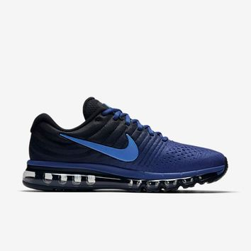 NIKE AIR MAX 2017 Dark Blue & Black Men's Running Shoes Sneakers