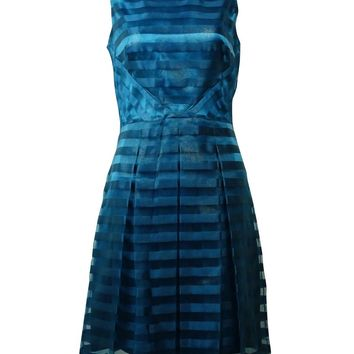 Tahari Women's Shadow Stripe Fit & Flare Dress