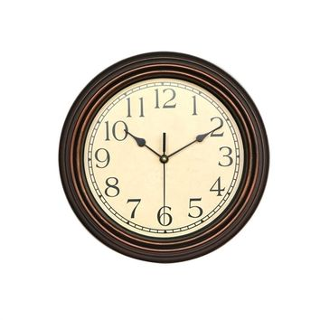 12-Inch Round Classic Clock, Non Ticking Decorative Wall Clock