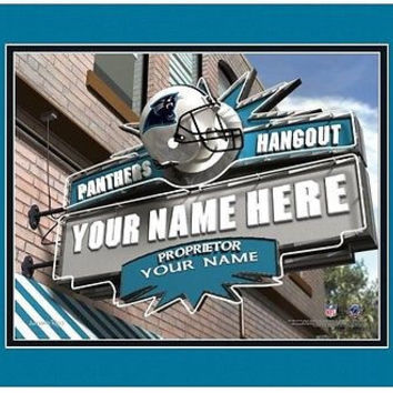 Football-NFL Sports Hangout Print Carolina Panthers Personalized Framed