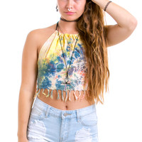 Vintage Renewed Sunset on the Beach Halter