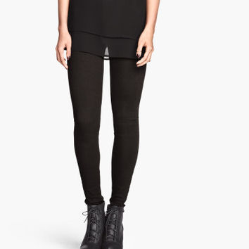 H&M - Slim-fit Pants - Black - Ladies