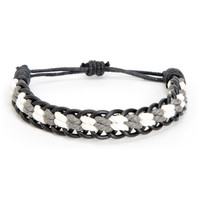 Fad Treasures Black & Grey Large Braided Bracelet at Zumiez : PDP