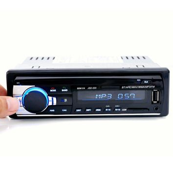 Hot Sale Original Car Radio Bluetooth V2.0 Car Stereo Audio Player In-dash Single Din Mp3 Player USB MP3 MMC WMA Radio Player