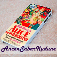 Vintage Disney Poster Alice In Wonderland - Phone case,iphone 4/4s,5/5s/5c/6/6+/Samsung S3/4/5/6/ ipod touch 4/5