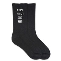 'In case you get cold feet' Men's Wedding Dress Socks