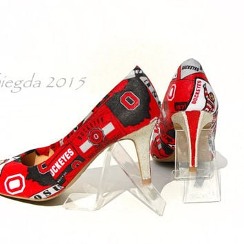 The Ohio State Buckeyes Glitter Heels