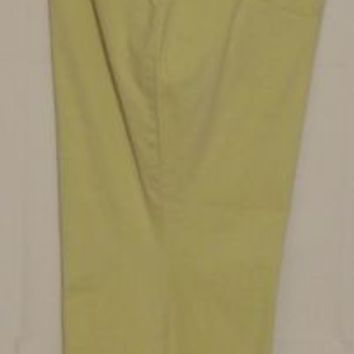 Woman Within Jeans Plus Size 36W Light Green