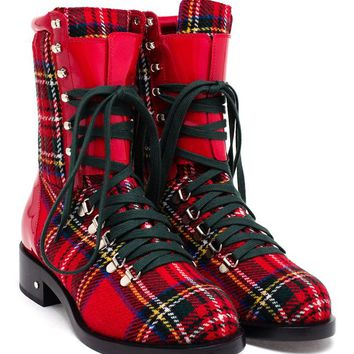 LAURENCE DACADE | Tartan Joe Boot | brownsfashion.com | The Finest Edit of Luxury Fashion | Clothes, Shoes, Bags and Accessories for Men & Women