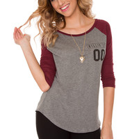 Killing It Baseball Top - Maroon