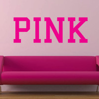 Pink Victoria's Secret Pink vinyl wall decal