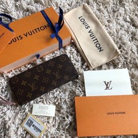 One-nice™ Louis Vuitton Monogram Clemency Wallet Rose Ballerine