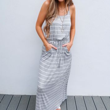 Joyful Heart Maxi: White/Grey