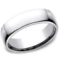 Benchmark High Polish 6.5MM Classic Men's Cobalt Wedding Band