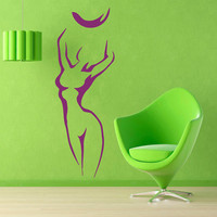 Sport Wall Decals Girl With Ball Sticker Gym Wall Decor Fitness Vinyl Sticker Home Decor Vinyl Art Wall Decor Girl Nursery Room Decor KG164