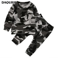 Newborn Toddler Infant Baby Boy clothes Long Sleeve t shirt Tops+ Pants 2PCS Casual Outfits Set baby born children kids Clothe