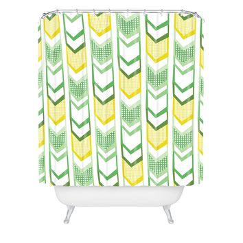 Heather Dutton Right Direction Lemon Lime Shower Curtain