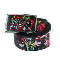 Jewel M Marvel Heroes Collage Graphic Belt